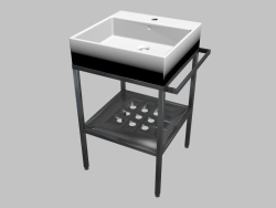 Sink mounted on the table top with console - 50x50 cm Termisto (CDTS6U5S)