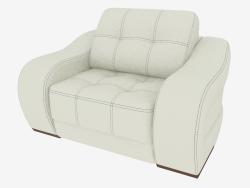 सफेद चमड़े के असबाबदार कुर्सी विपरीत अंधेरे सिलाई के साथ