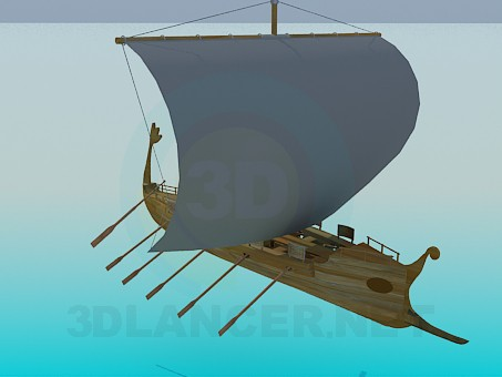 3d model Galley - preview
