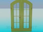 Двойная дверь со стеклом