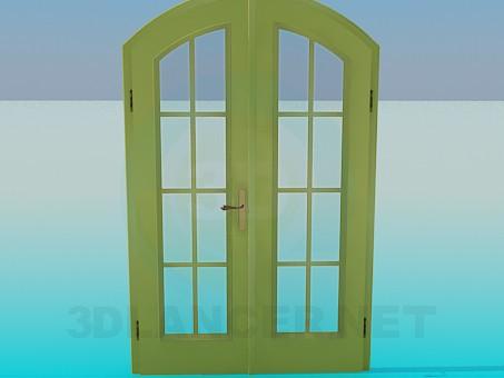 descarga gratuita de 3D modelado modelo Puerta doble con cristal