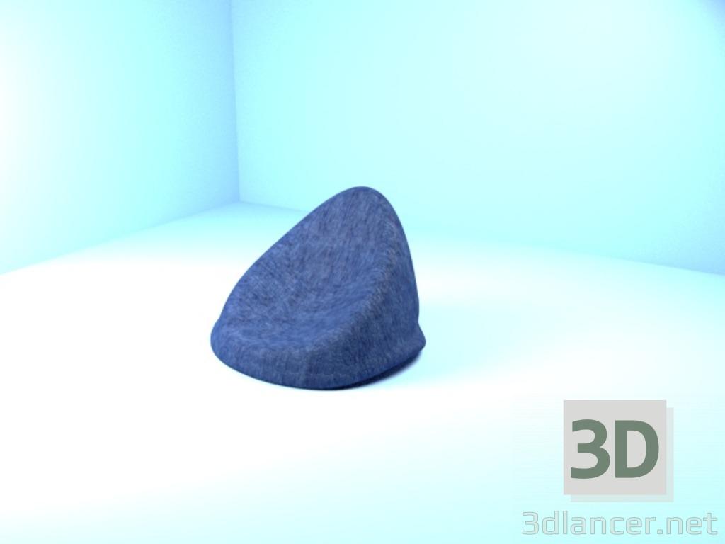 3 डी मॉडल आर्मचेयर बैग, ओटोमन - पूर्वावलोकन
