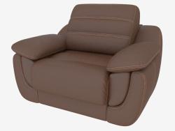 ब्राउन चमड़े के असबाब में कुर्सी