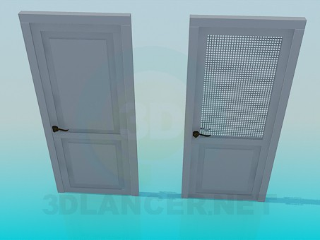 3d modeling Door with a grid model free download
