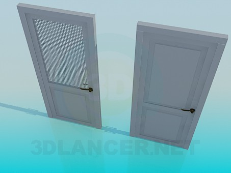 3d model Door with a grid - preview