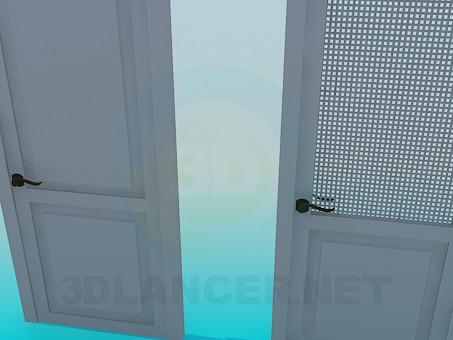 3d модель Дверь с решеткой – превью