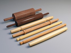 Wooden rolling-pin for dough