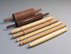 Rolamento-pino de madeira para massa