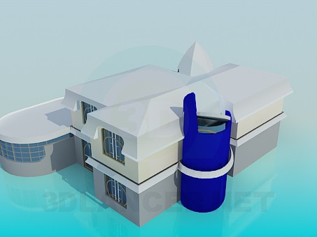 3d model Huge house - preview