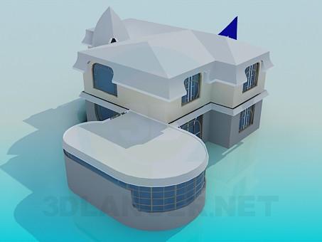 3d модель Огромный дом – превью
