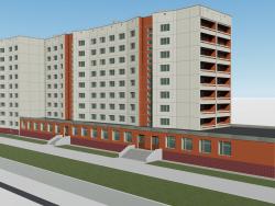 Nine-story house Komsomolsky prospect 61 Chelyabinsk