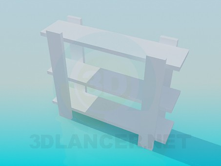 3d model Wooden stand - preview