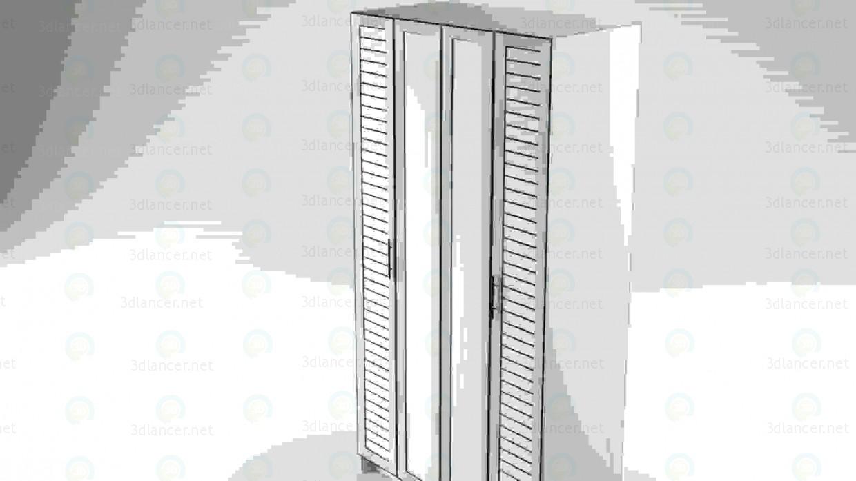 3d model Wardrobe 4-door - preview