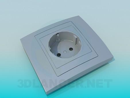 3 डी मॉडल इलेक्ट्रिक सॉकेट - पूर्वावलोकन