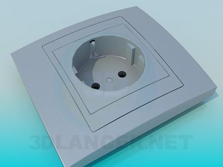 3d модель Розетка электрическая – превью