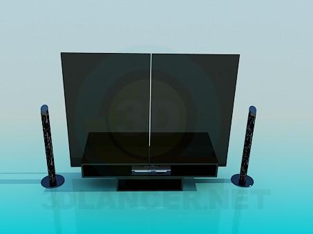 descarga gratuita de 3D modelado modelo Muebles para cine en casa