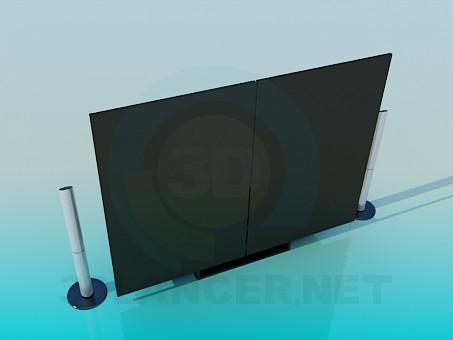 modelo 3D Muebles para cine en casa - escuchar