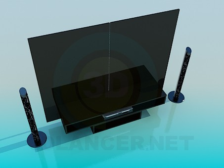 3d model Furniture for Home Theater - preview