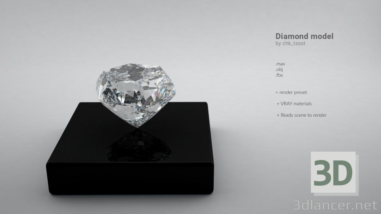 3d model Diamond model - preview