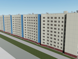 Nine-story house Komsomolsky prospect 47 Chelyabinsk