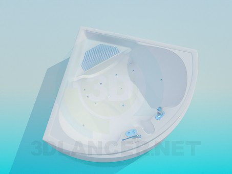 3d model Corner bath-spa - preview
