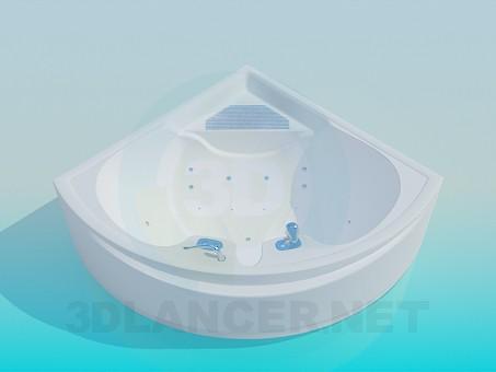 modelo 3D Spa baño de esquina - escuchar