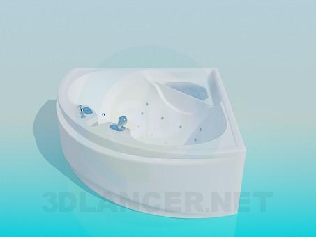 3d модель Угловая ванна-джакузи – превью