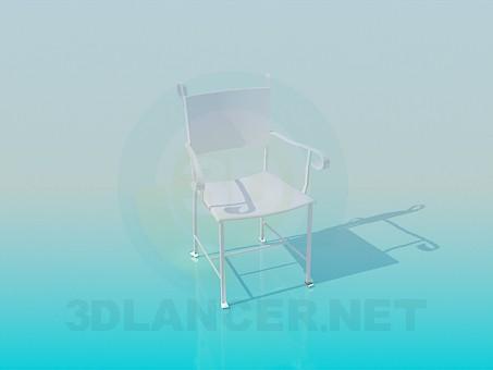 3d модель Кований стілець – превью