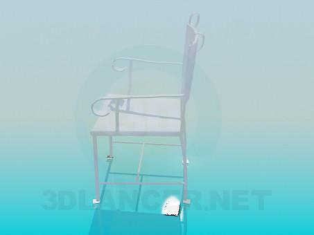 3d модель Кованый стул – превью