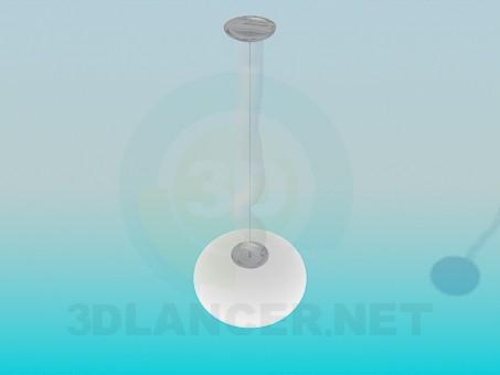 modello 3D Lampada con plafonom rotondo - anteprima