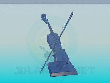 3d modeling Souvenir-violin model free download