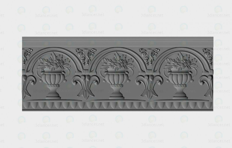 3d model Decorativo de la cornisa - vista previa