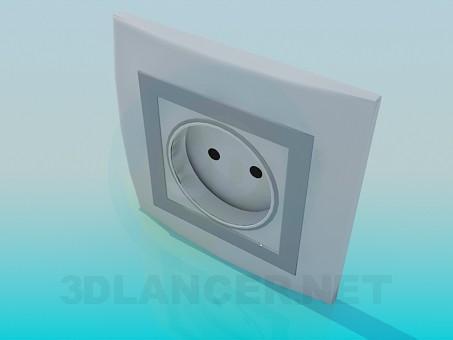 modelo 3D Toma de corriente - escuchar