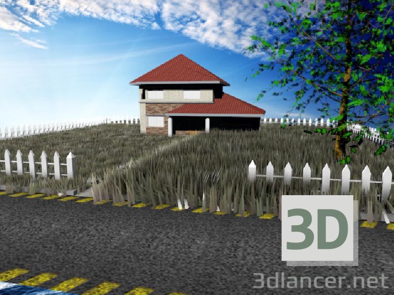 3d модель просто будиночок – превью
