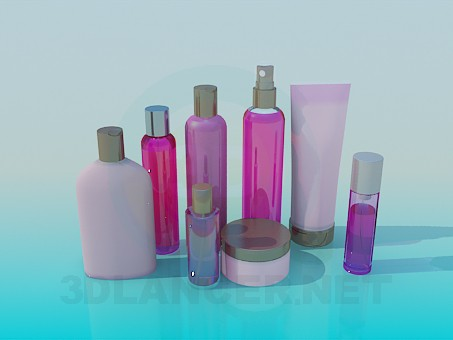 3d modeling Cosmetics model free download