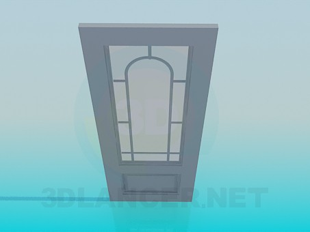 3d modeling Door with glass model free download