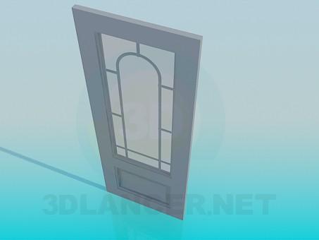 modelo 3D Puerta de cristal - escuchar