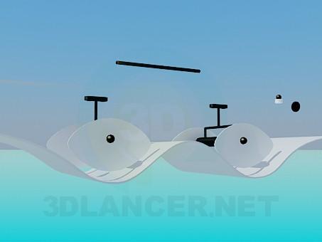 3d модель Волнистый светильник – превью