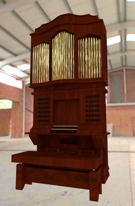 3d A small musical organ модель купить - ракурс