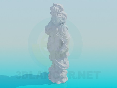 3d model Statue of the Virgin - preview