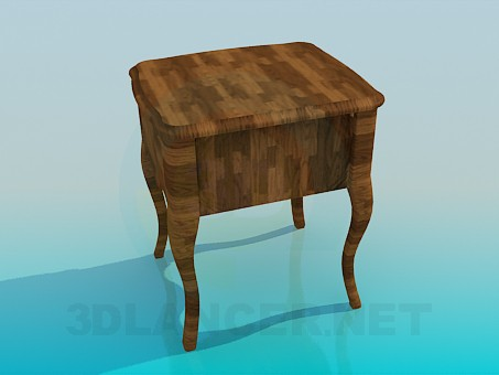 3d model Table with storage - preview