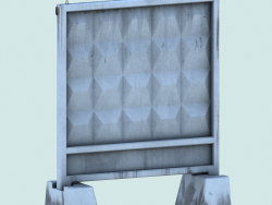 Reinforced concrete fence slab PO-2