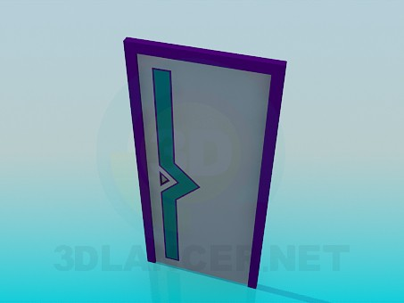 3d model Door with a pattern - preview