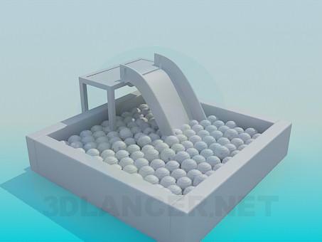 Mod le 3d glisser avec des boules pour les petits enfants for Modelisation 3d gratuit