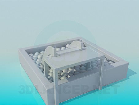 3d model Slide with balls for small children - preview