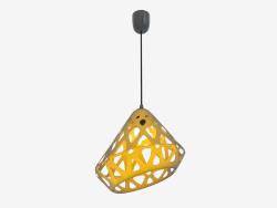Lampe suspendue (jaune 2.1 fil noir foncé)