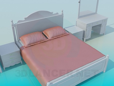3d model Set in the bedroom - preview