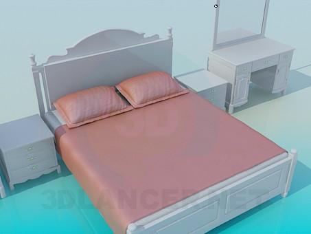 3d model Set in the bedroom - preview