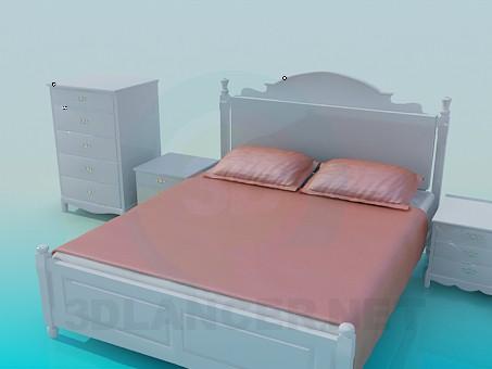 3d модель Набор в спальную – превью