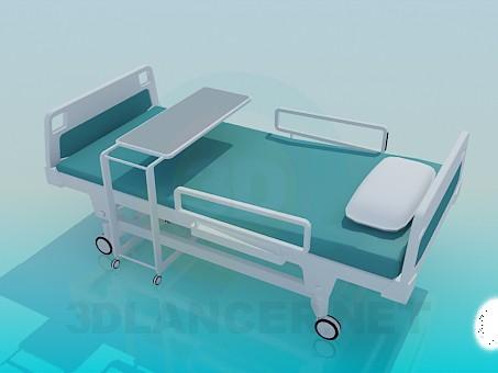 3d модель Больничная кровать – превью
